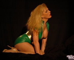 velvet-steele-green-latex-dress-09