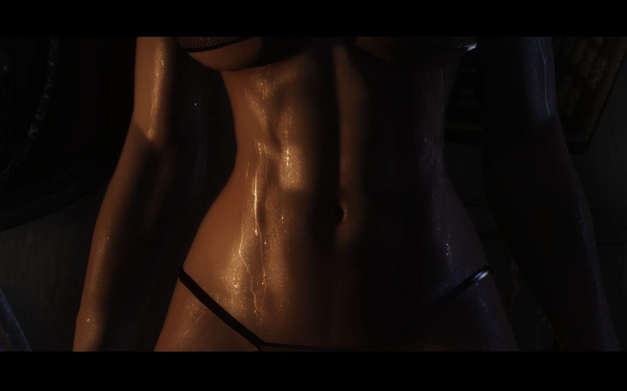 sweaty torso